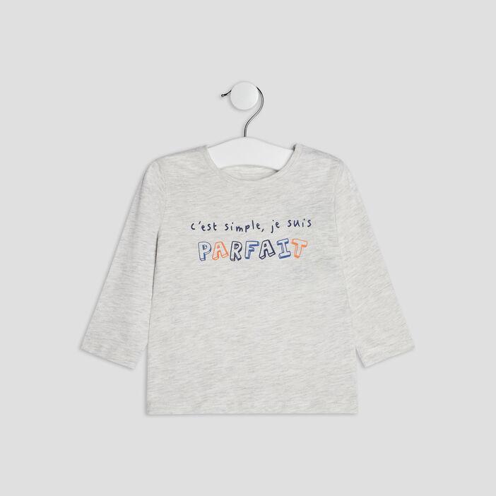 T-shirt manches longues bébé garçon ecru