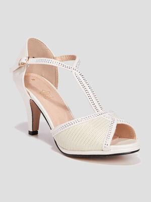 Sandales a talons aiguilles blanc femme