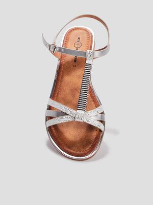Sandales plates Mosquitos couleur argent femme
