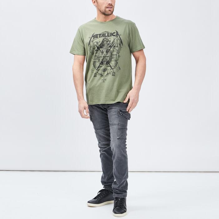 T-shirt Metallica homme vert kaki