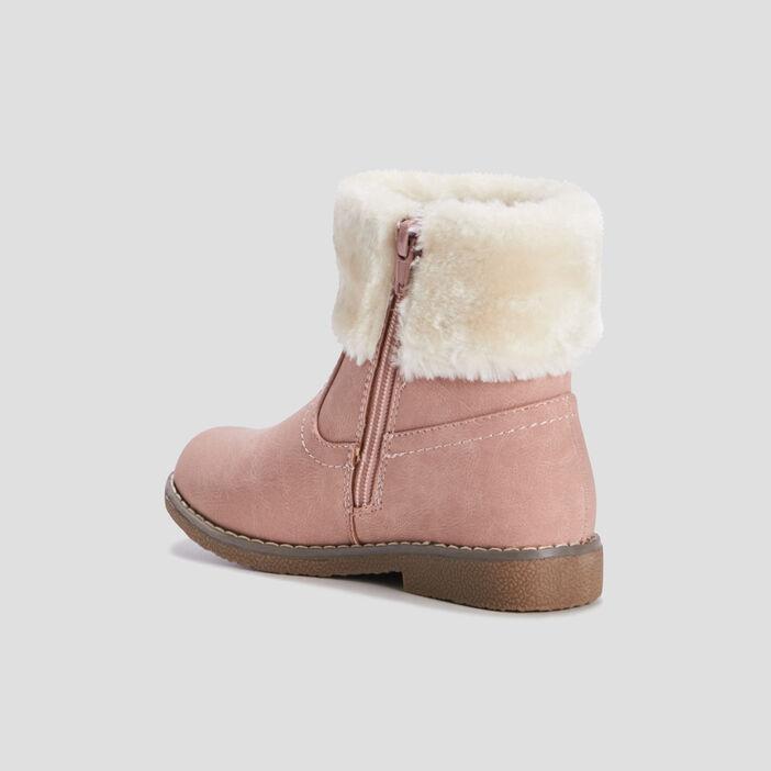 Bottines cavalières zippées fille rose