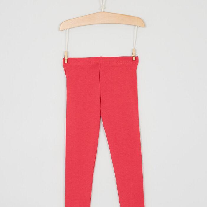 Pantalon legging fille rose fushia
