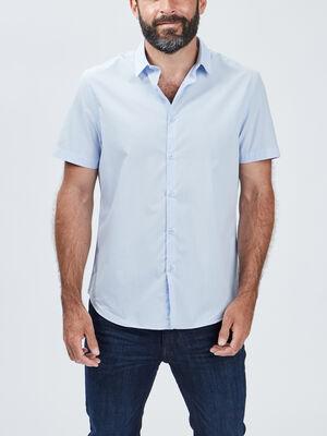 Chemise manches courtes bleu ciel homme