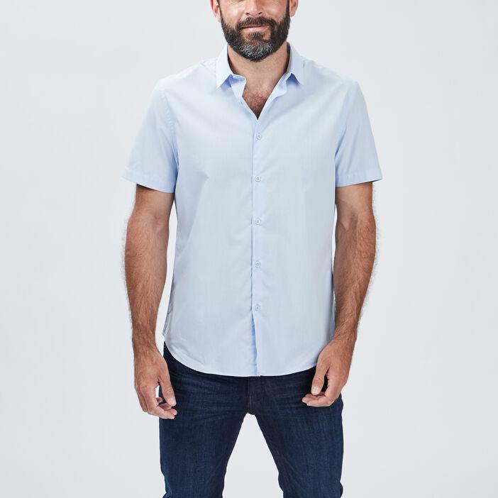 Chemise manches courtes homme bleu ciel