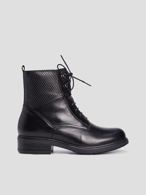 Bottines a lacets noir fille