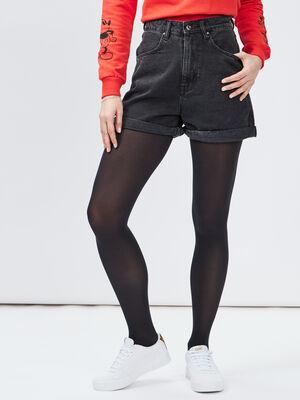 Short mom en jean Liberto noir femme