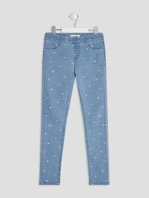 Jeggings denim double stone fille