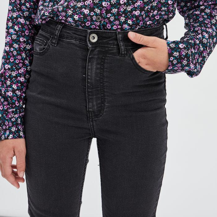 Jeans skinny cropped fille denim noir