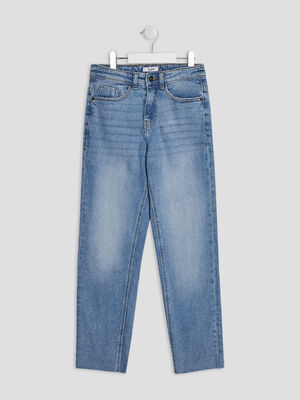 Jeans straight taille ajustable denim double stone fille