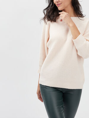 Pull manches 34 rose poudree femme