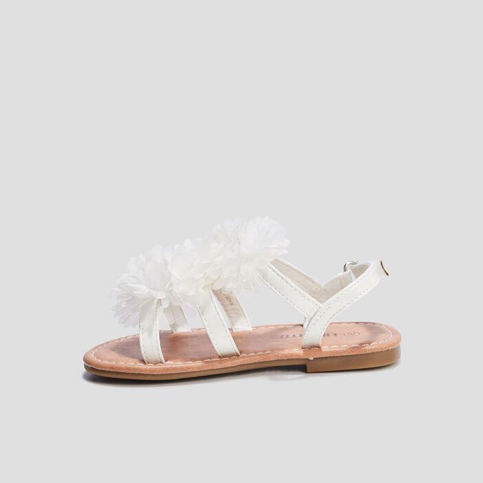Sandales à froufrous Liberto fille blanc