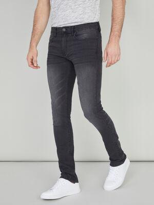 Jean slim coton melange noir homme