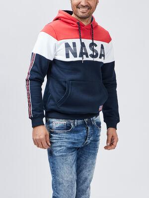 Sweat a capuche NASA bleu homme
