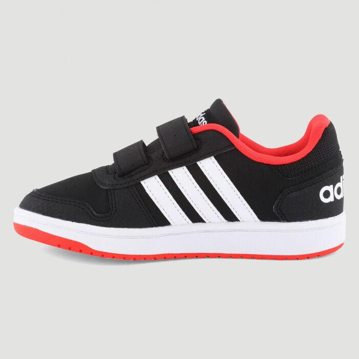 Tennis Adidas HOOPS 2.0 garçon noir