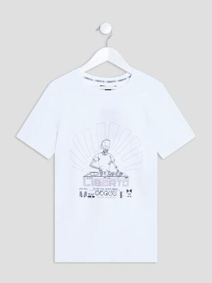 T shirt Liberto blanc garcon