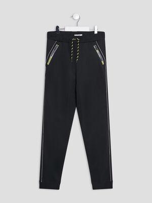 Jogging details zippes noir garcon