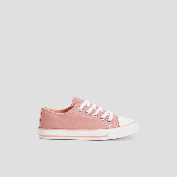 Tennis en toile fille rose