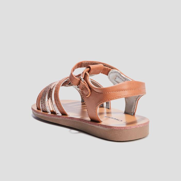 Sandales spartiates Creeks fille marron