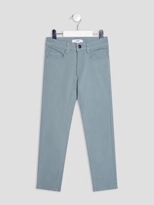 Pantalon skinny effet stretch bleu gris garcon