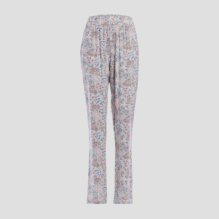 Pantalon de pyjama femme ecru