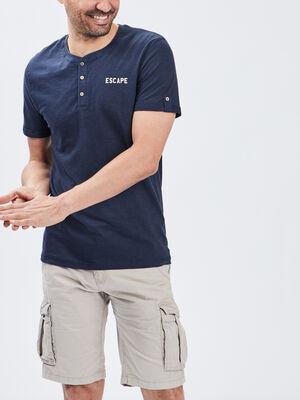 T shirt Trappeur bleu marine homme