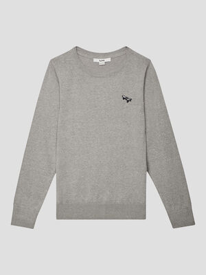 Pull manches longues gris garcon