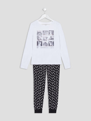 Ensemble pyjama blanc fille