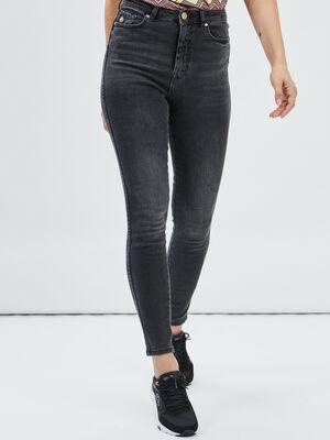 Jeans slim effet push up denim gris femme