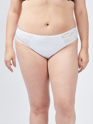 Culotte grande taille blanc femmegt