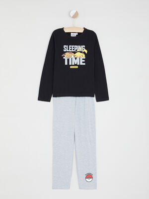 Ensemble pyjama 2 pieces gris fonce garcon
