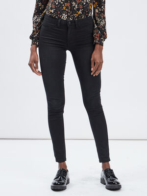 Jeans skinny taille basse noir femme