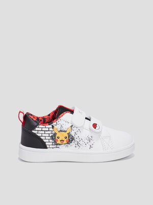 Baskets tennis Pokemon blanc garcon