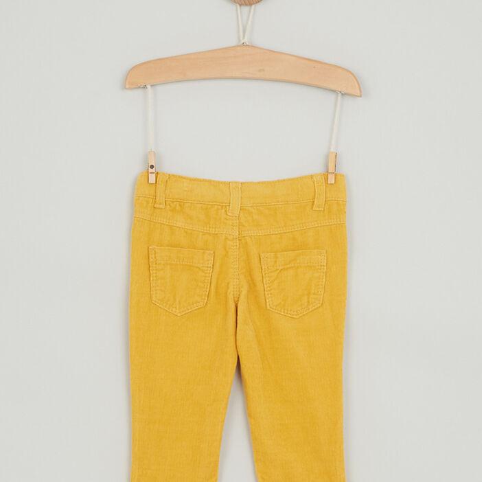 Pantalon uni en coton bébé garçon jaune