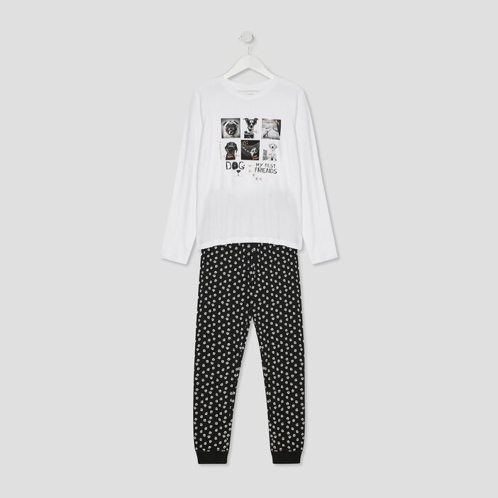 Ensemble pyjama fille blanc