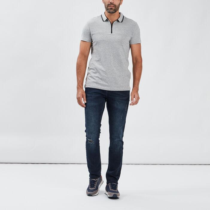 Polo manches courtes homme gris