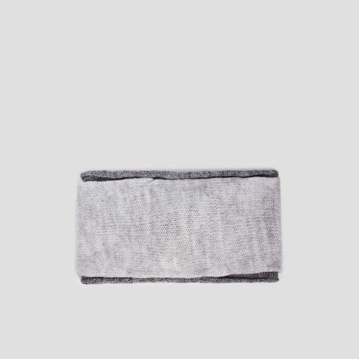 Bandeau tricoté  gris foncé