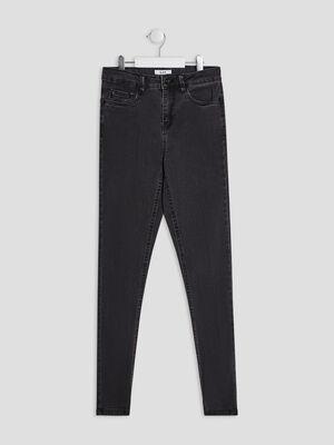 Jeans droit 5 poches gris fonce fille