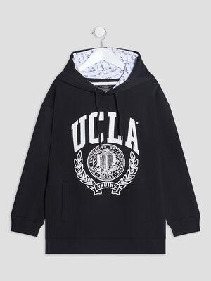 Sweat a capuche UCLA noir fille