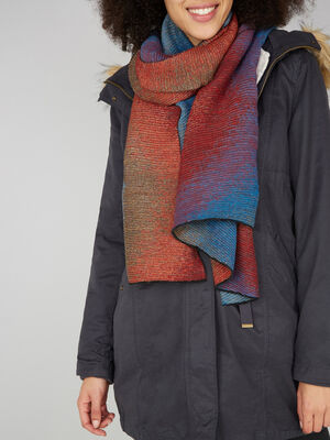 charpe multicolore maille metallisee multicolore femme