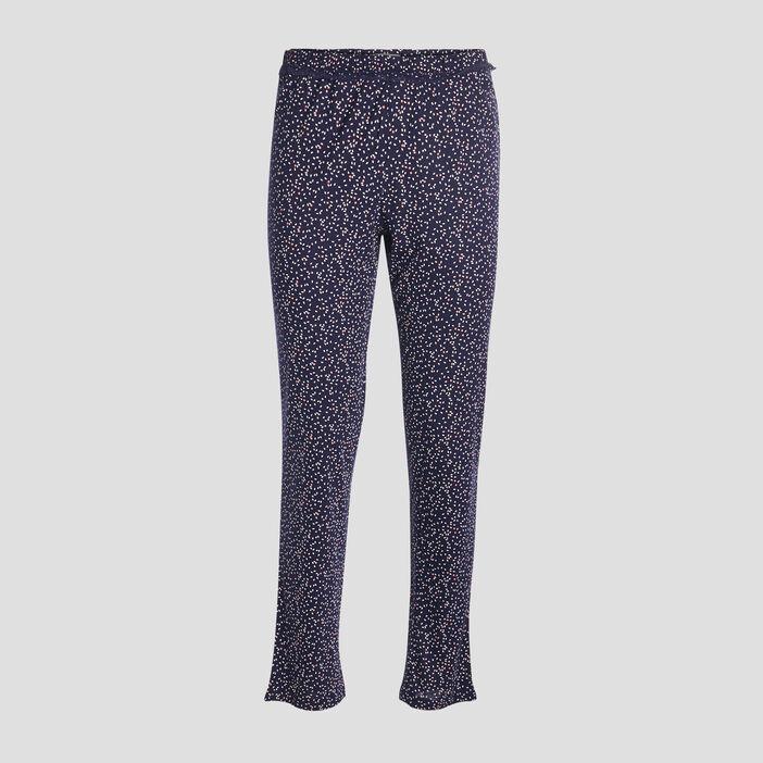 Pantalon de nuit femme bleu marine