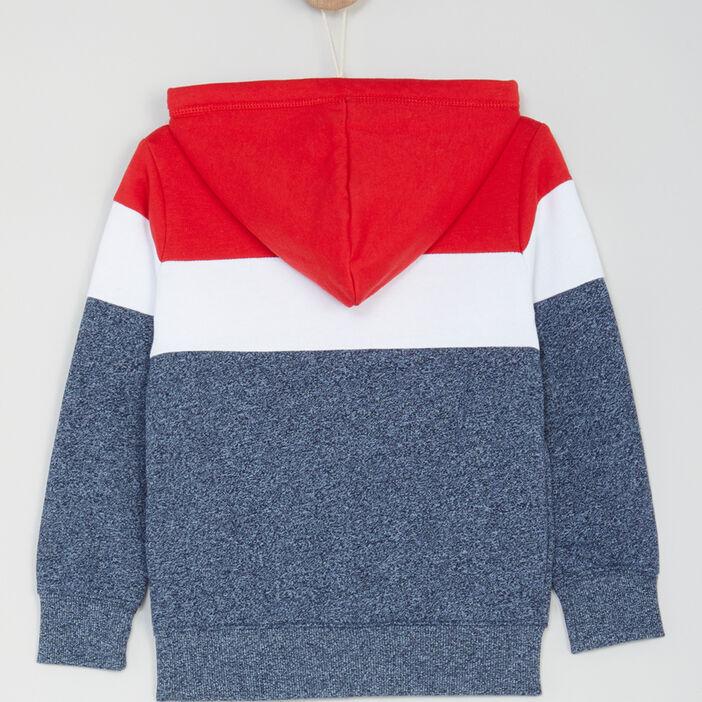 Gilet zippé à capuche garçon multicolore
