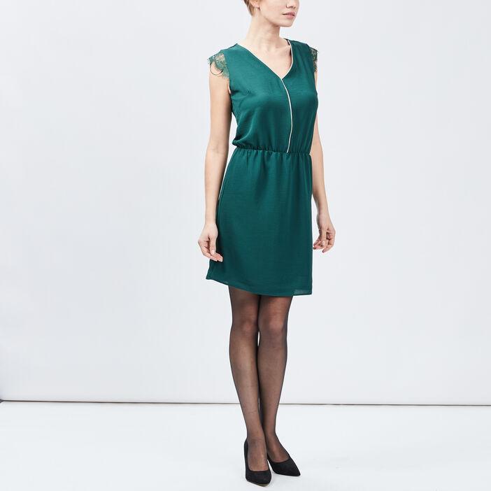 Robe droite sans manches femme vert