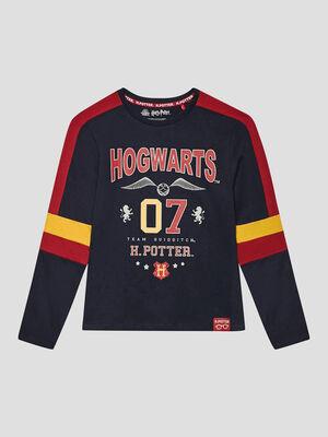 T shirt Harry Potter bleu marine garcon