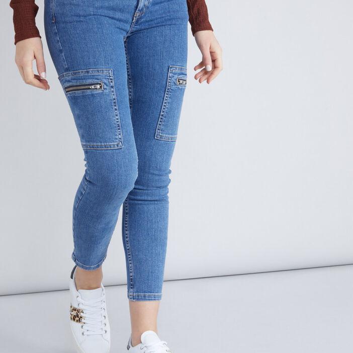 Jean à poches coupe slim femme denim double stone