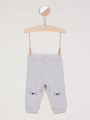 Pantalon jogging uni bleu turquoise garcon