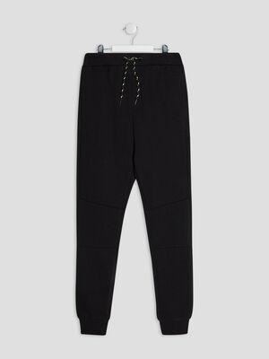 Pantalon jogging droit noir garcon