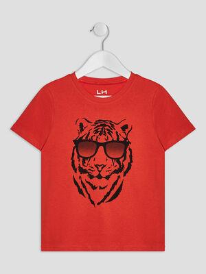 T shirt manches courtes orange garcon