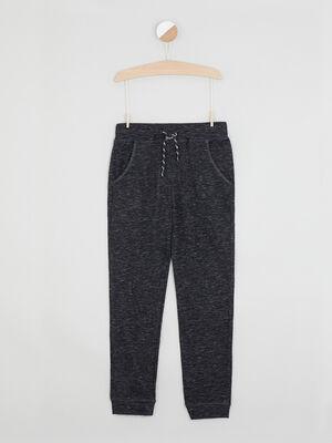 Pantalon de jogging uni gris fonce garcon