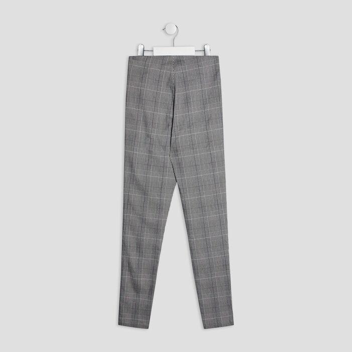 Pantalon droit zippé fille noir
