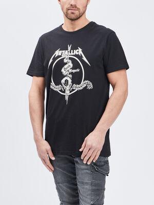 T shirt Metallica noir homme